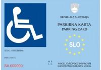Pridobitev parkirne karte