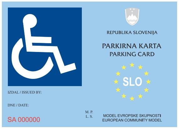 Parkirna karta za invalide