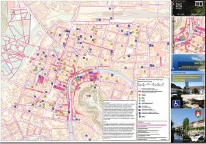 Karta dostopnosti lokacij za gibalno ovirane osebe Ljubljana