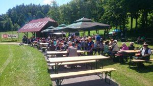 Družabno srečanje invalidov na Ivarčkem jezeru 2016